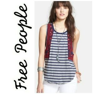 NWOT ⏩Free People⏪ Wear Your Sparkle Striped Tank